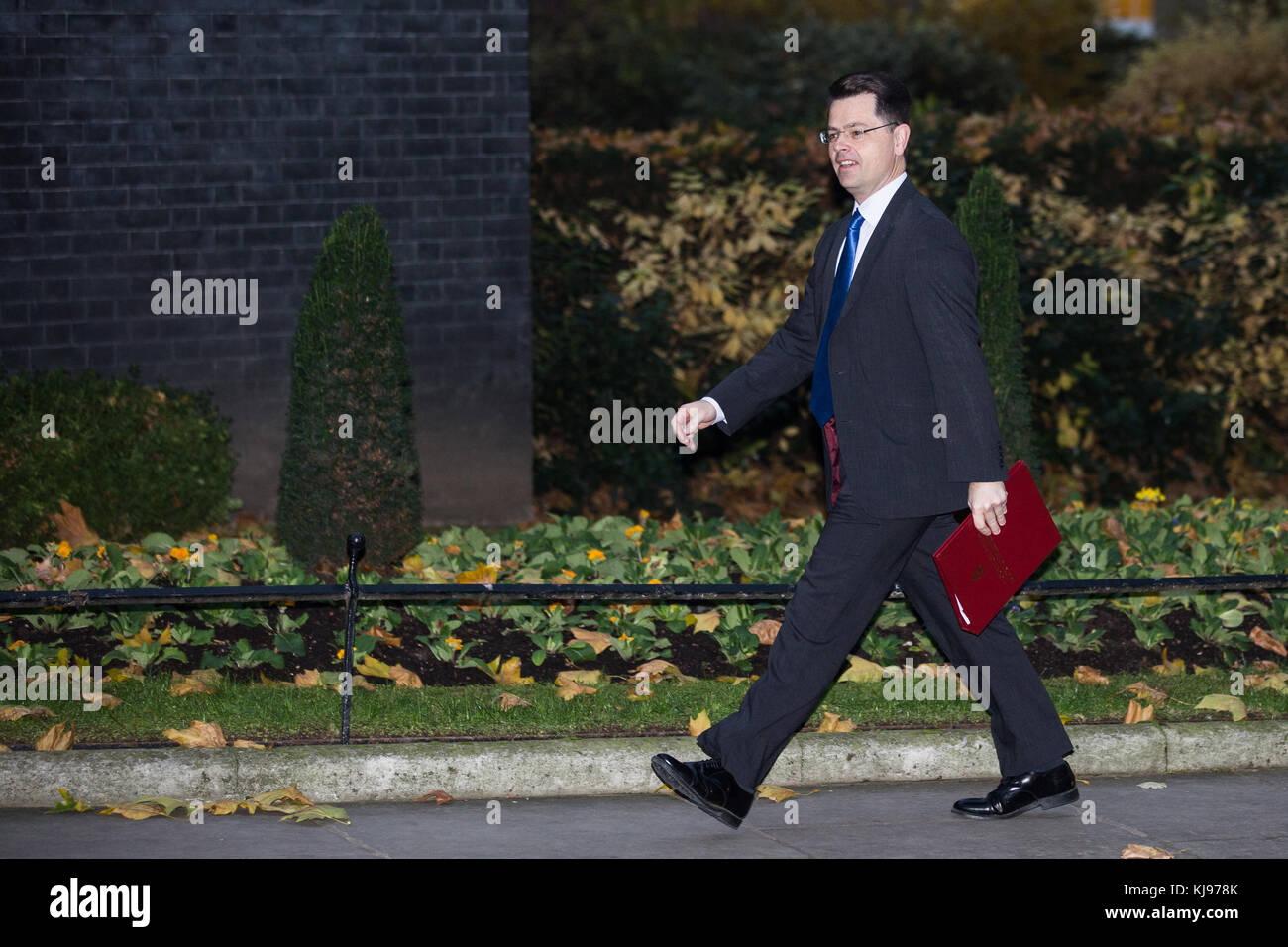 London, UK. 22nd November, 2017. James Brokenshire MP, Secretary of State for Northern Ireland, arrives at 10 Downing - Stock Image