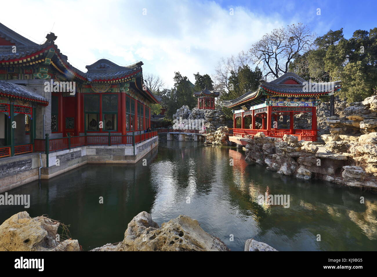 Beijing, China. 23rd Nov, 2017. (EDITORIAL USE ONLY. CHINA OUT) .Beihai Park is a public park and former imperial - Stock Image