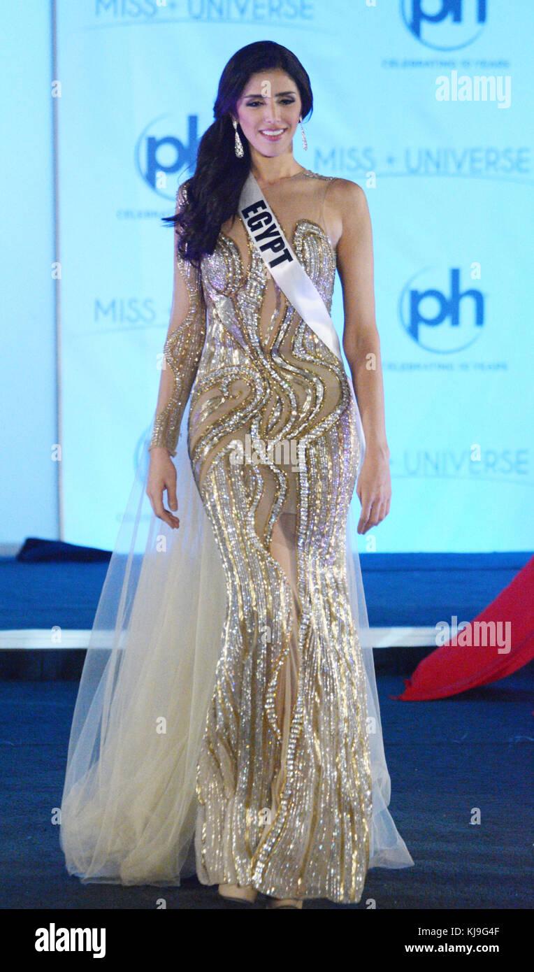 Las Vegas, Nevada, USA. 23rd Nov, 2017. Miss Universe Egypt Farah ...