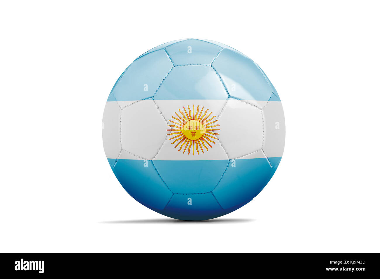 Soccer ball isolated with team flag, Russia 2018. Argentina - Stock Image