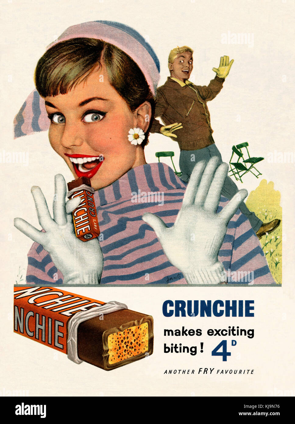 poster reproduction Crunchie Old Magazine Advertising