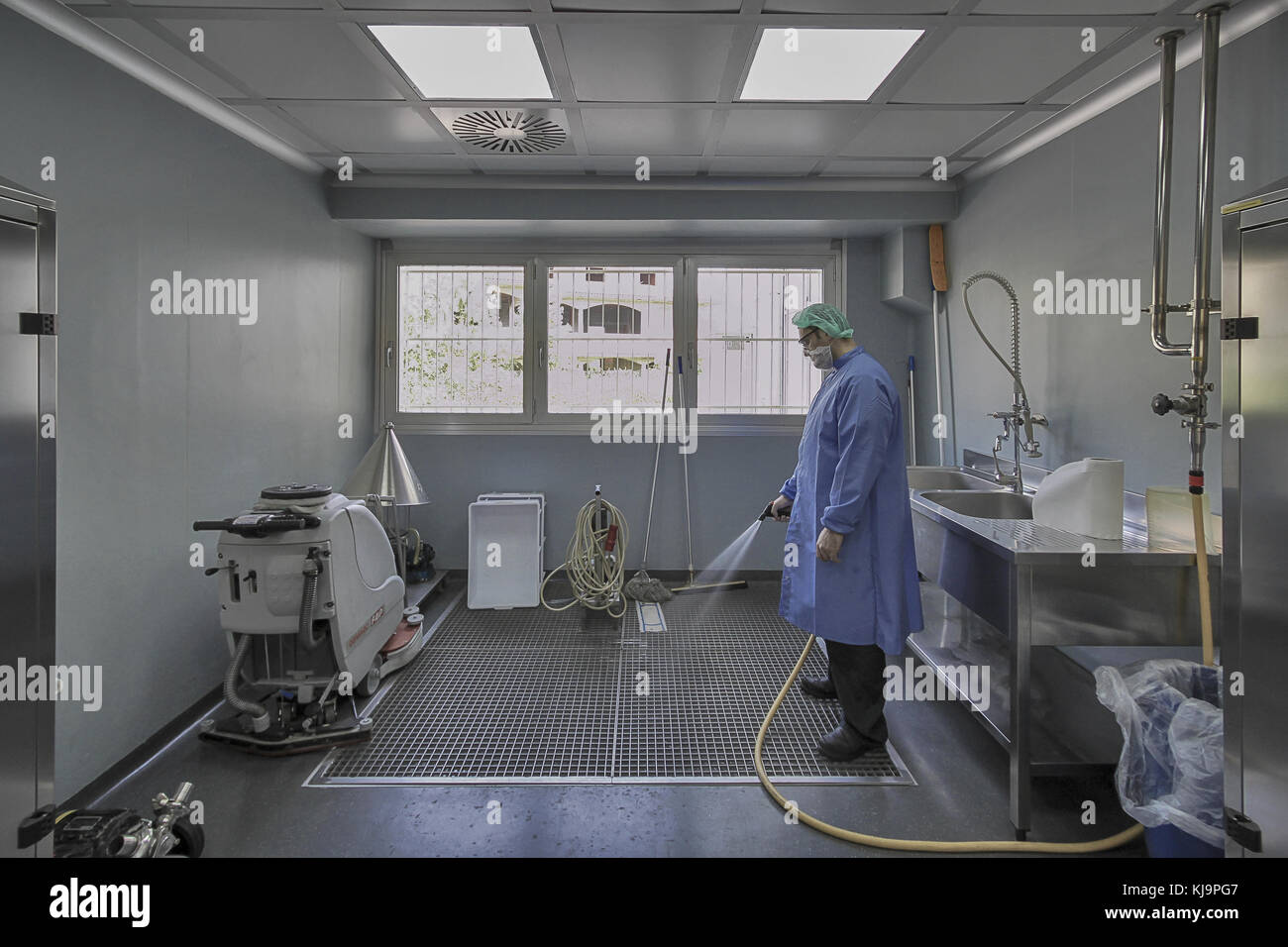 a laboratory technician - Stock Image