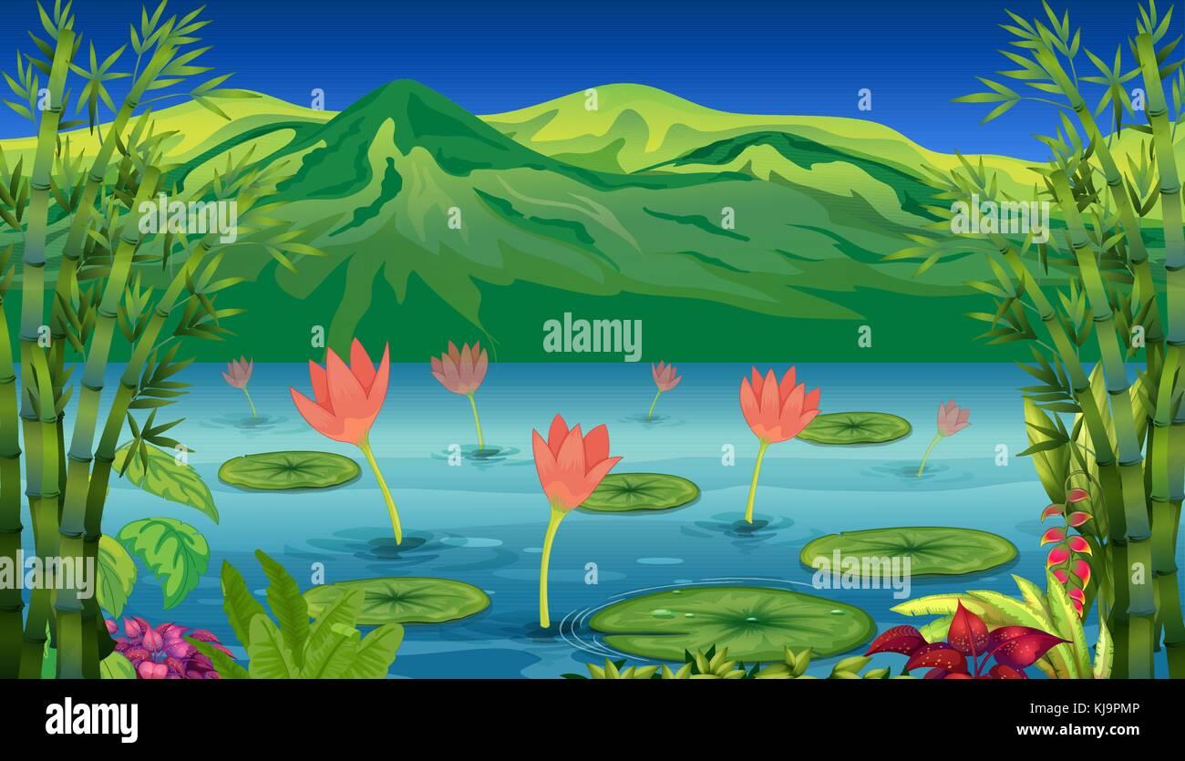 Flower Screensaver Stock Vector Images Alamy