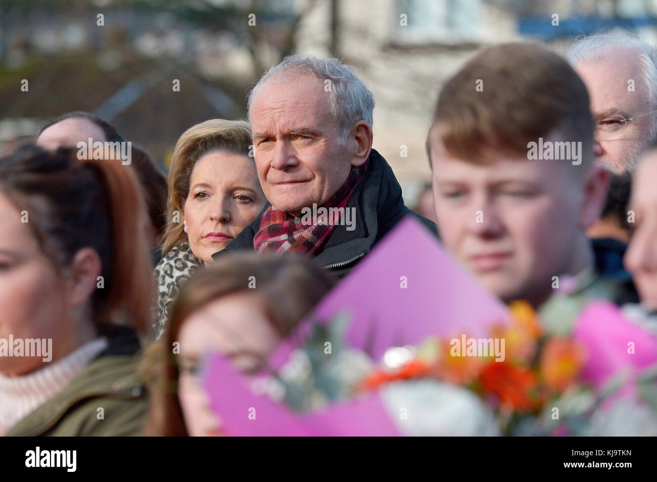 Sinn Fein's Martin McGuinness attending a Bloody Sunday  commemoration service in Londonderry in January 2017. - Stock Image