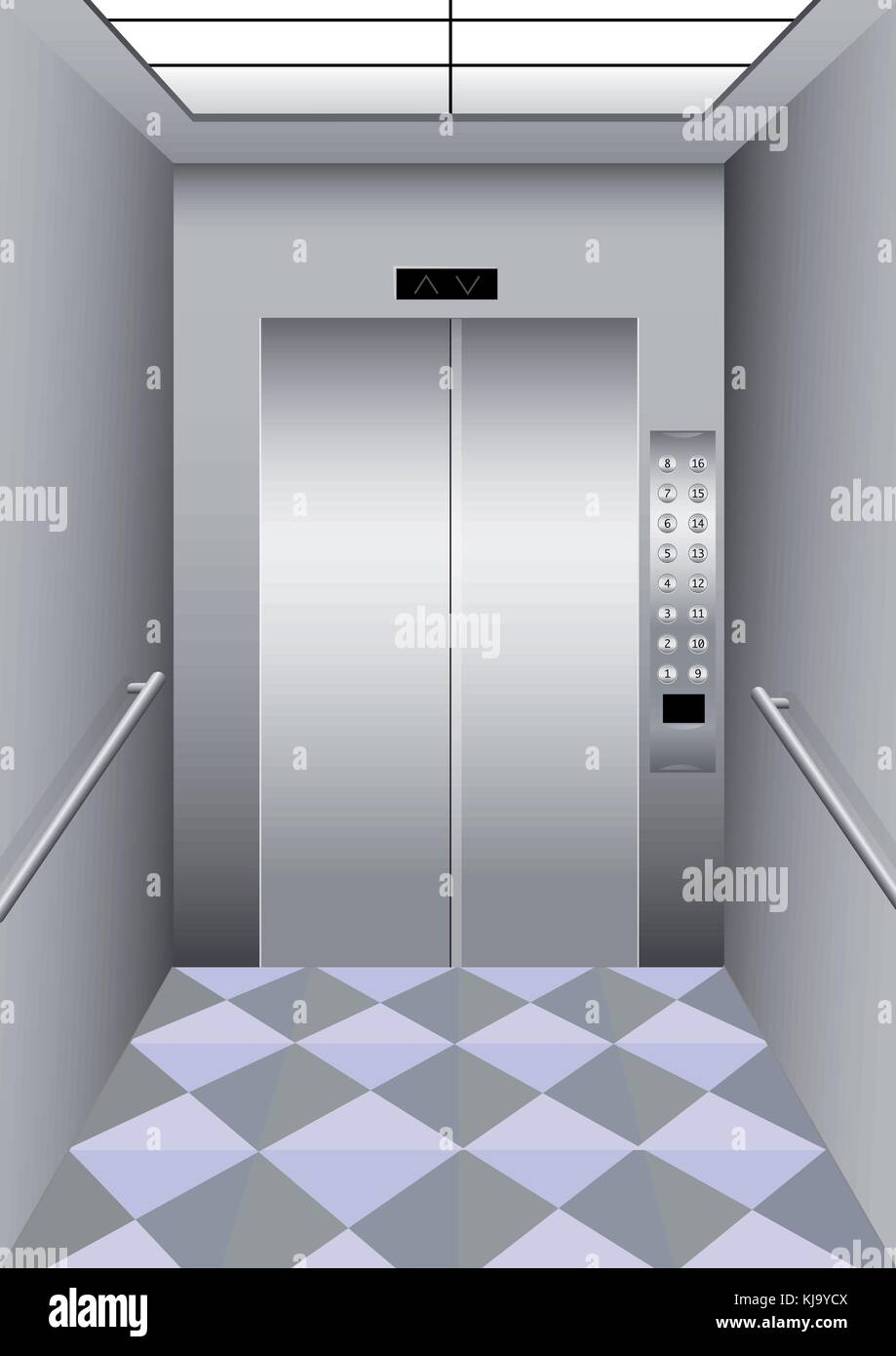 Illustration of a building elevator - Stock Vector