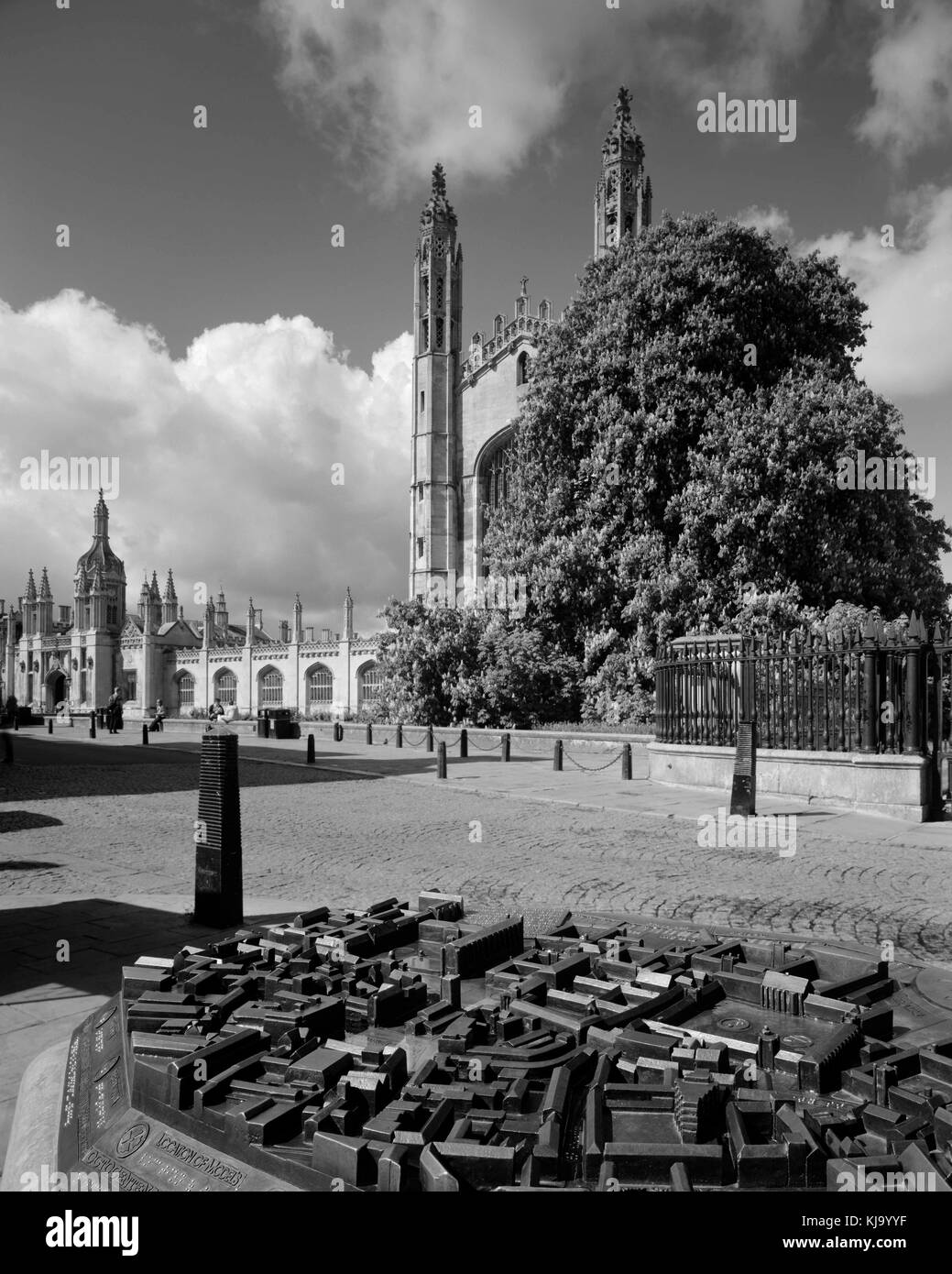 Cambridge City Centre model on King's Parade opposite King's College Chapel - Stock Image