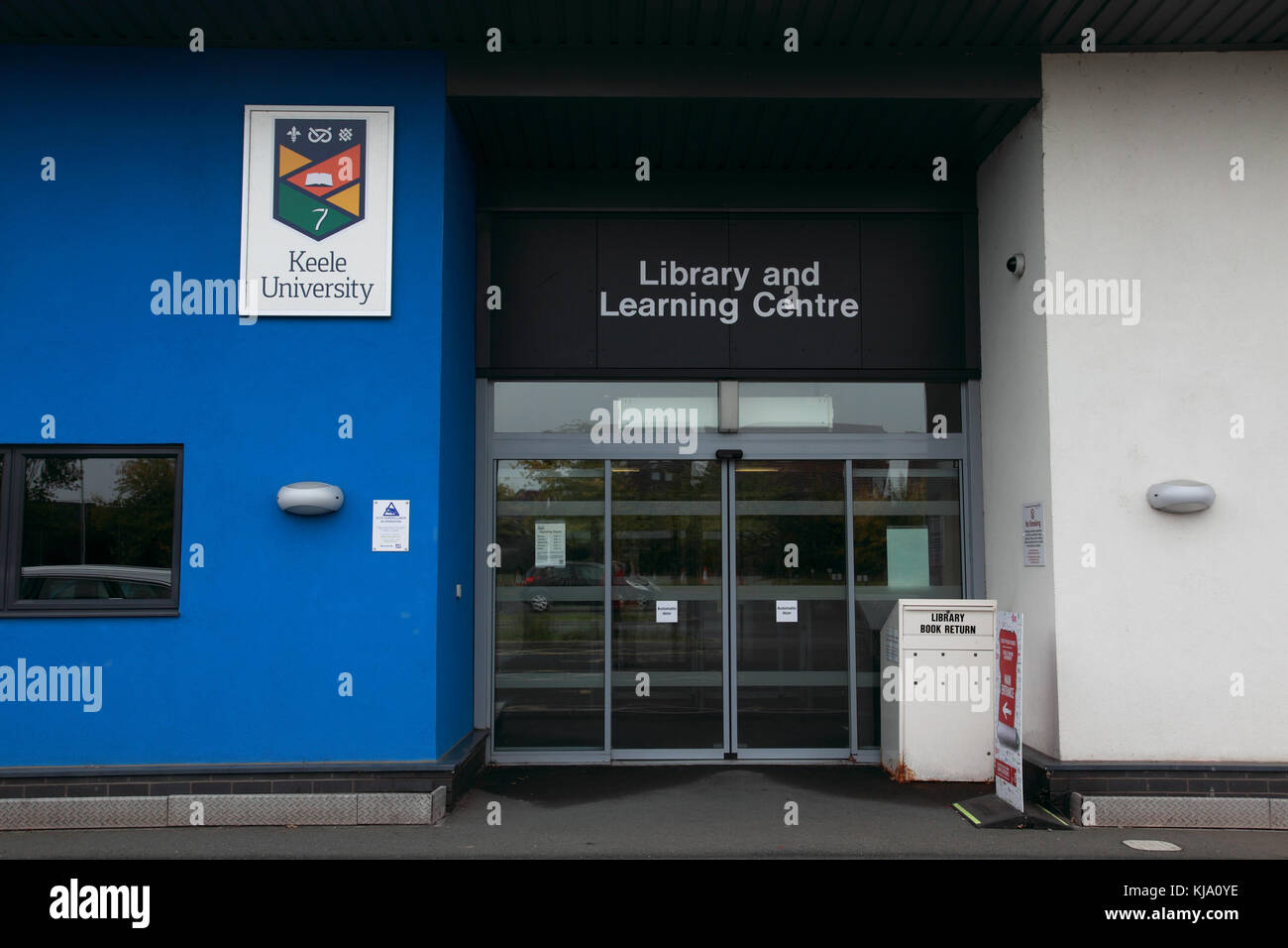 The Keele University Library and Learning Centre at the NHS Royal Shrewsbury Hospital, a teaching hospital - Stock Image