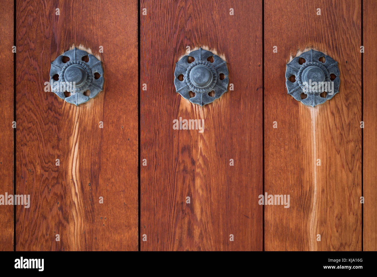Metal ornaments on an old weathered wooden door - Stock Image & Metal Ornaments Stock Photos u0026 Metal Ornaments Stock Images - Alamy