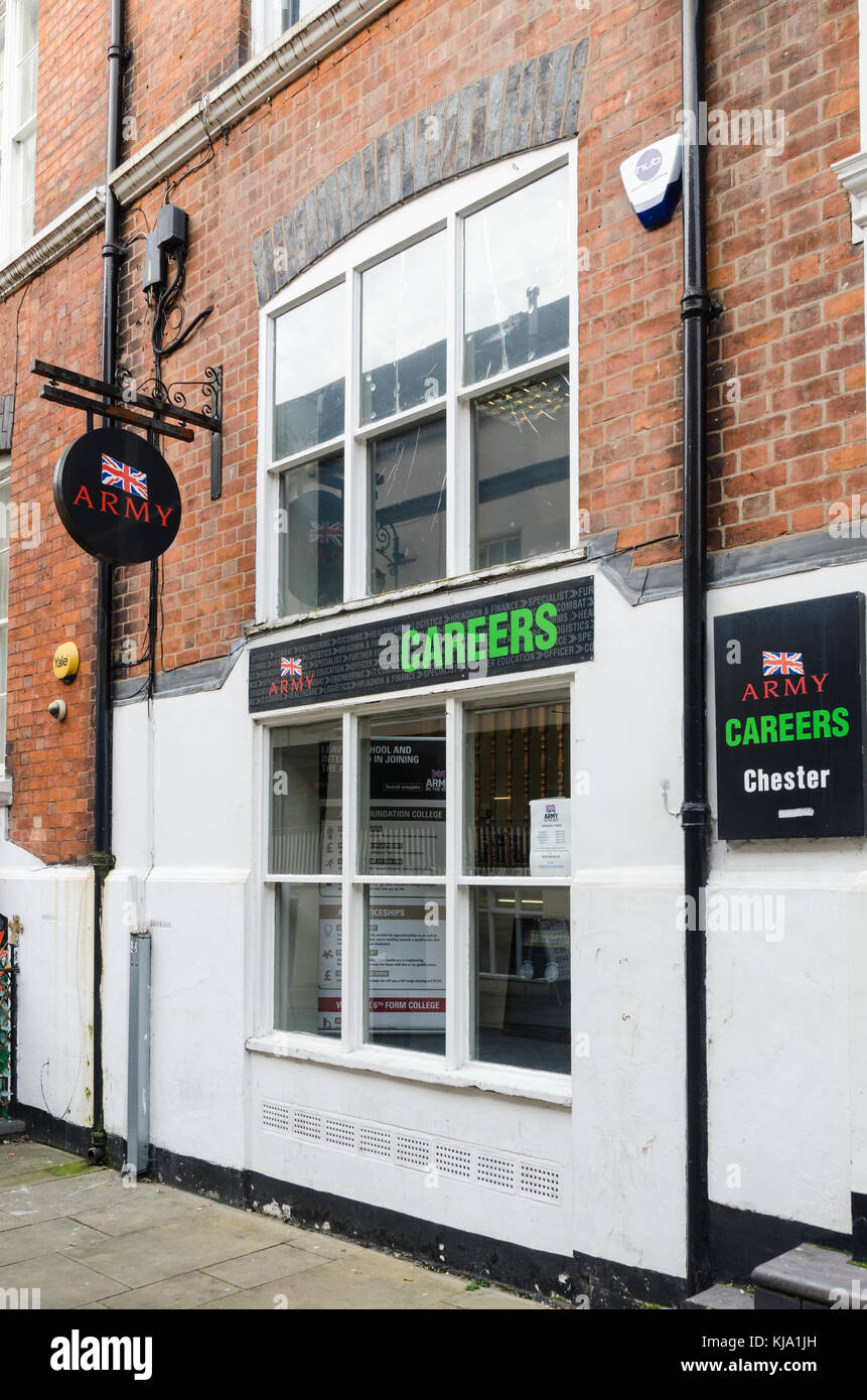 Army Careers office in Watergate Street, Chester, UK Stock Photo