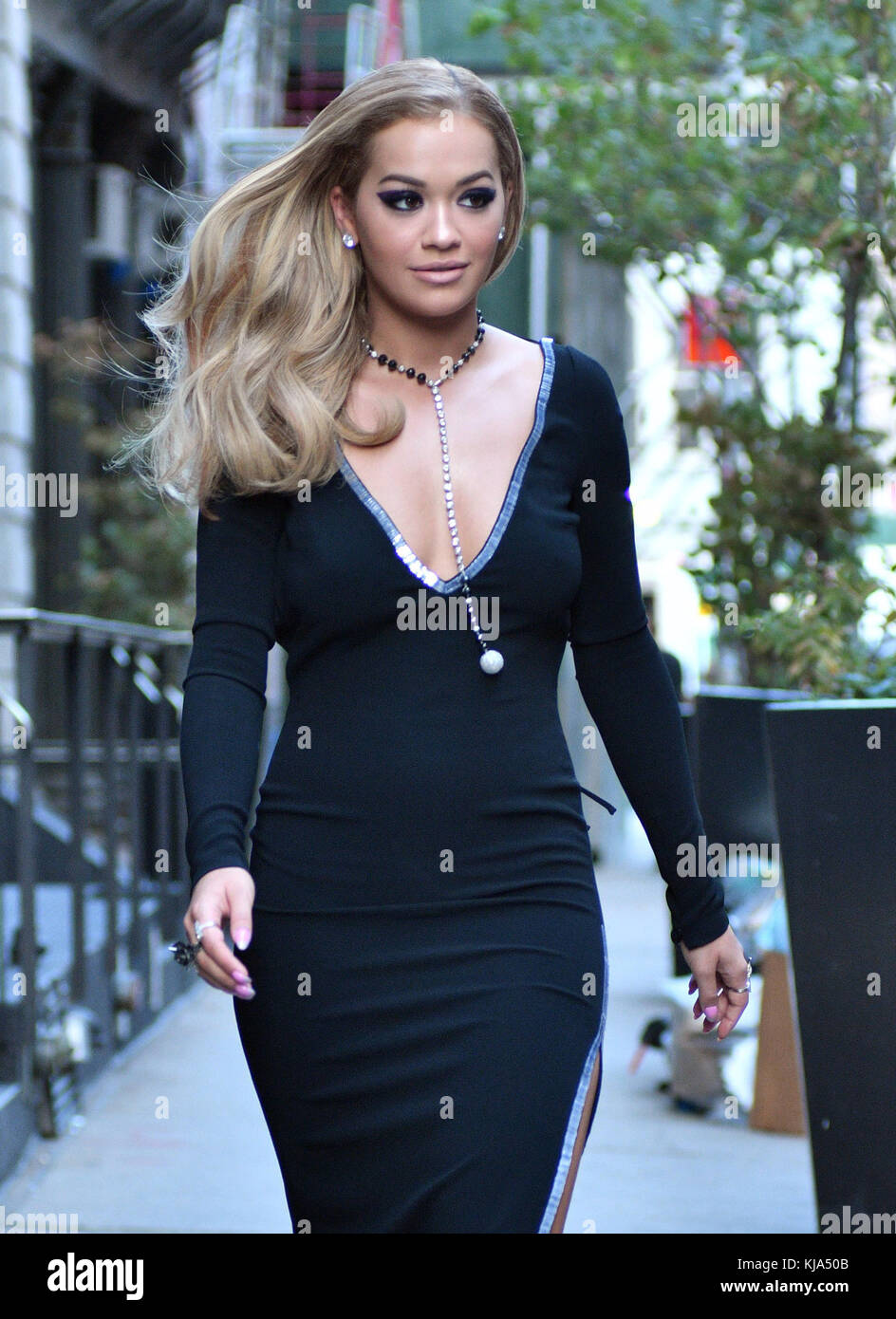 New York Ny August 24 Singer Rita Ora Wears An Evening Gown As