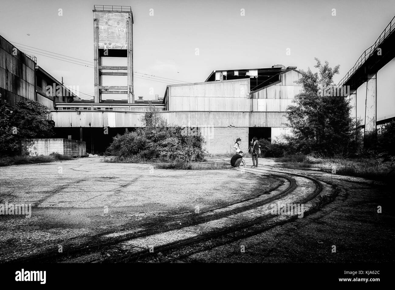 an abandoned factory in Italy - Stock Image
