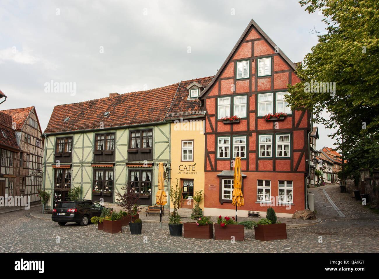 Quedlinburg Cafe Am Finkenherd Stock Photo