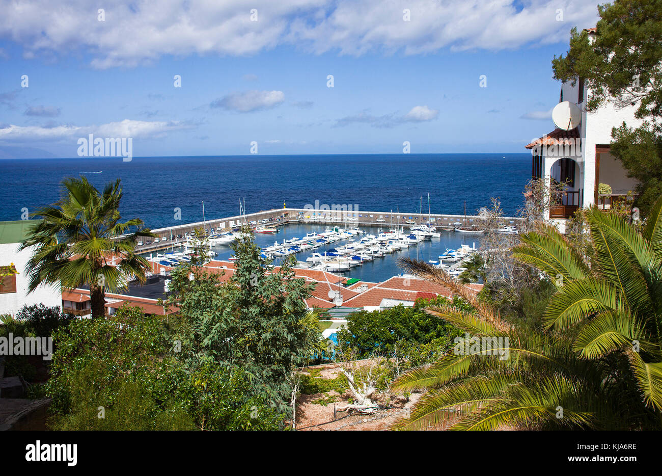 View on harbour of Gigantes, west site of the island, Tenerife island, Canary islands, Spain - Stock Image