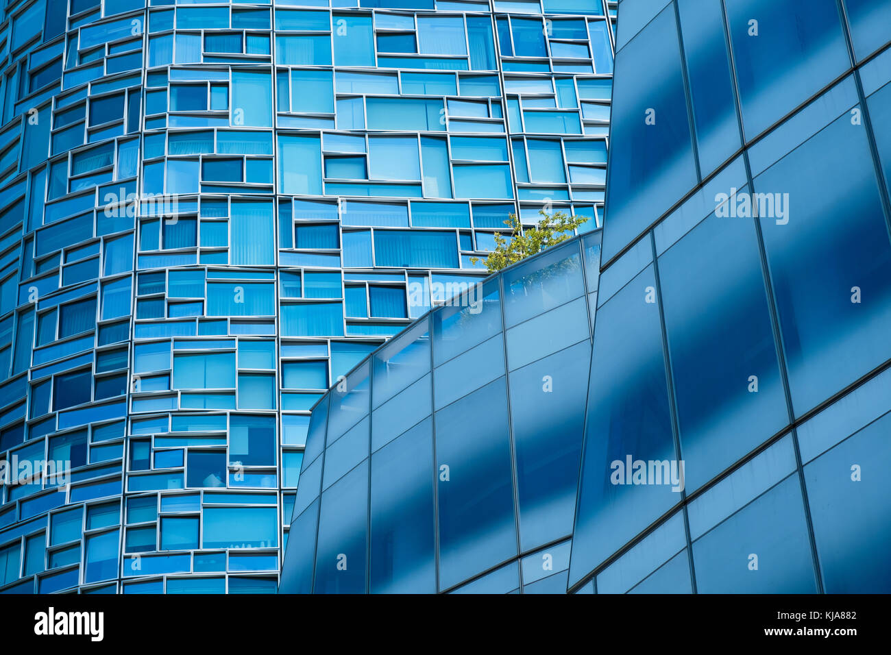 Detail from skyscrapers in New York. - Stock Image