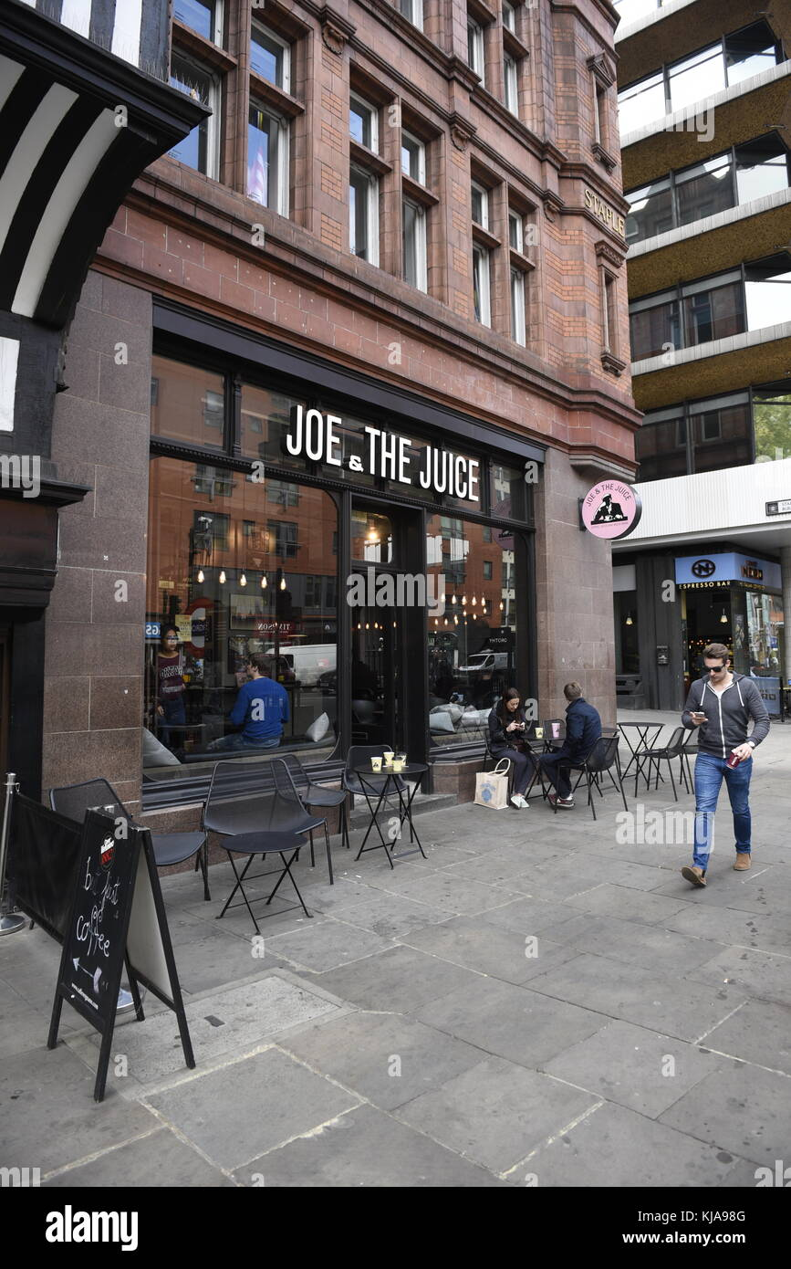 Joe & The Juice, 335 High Holborn, WC1V 7PX London UK. It is a health fast food chain from Denmark founded by - Stock Image