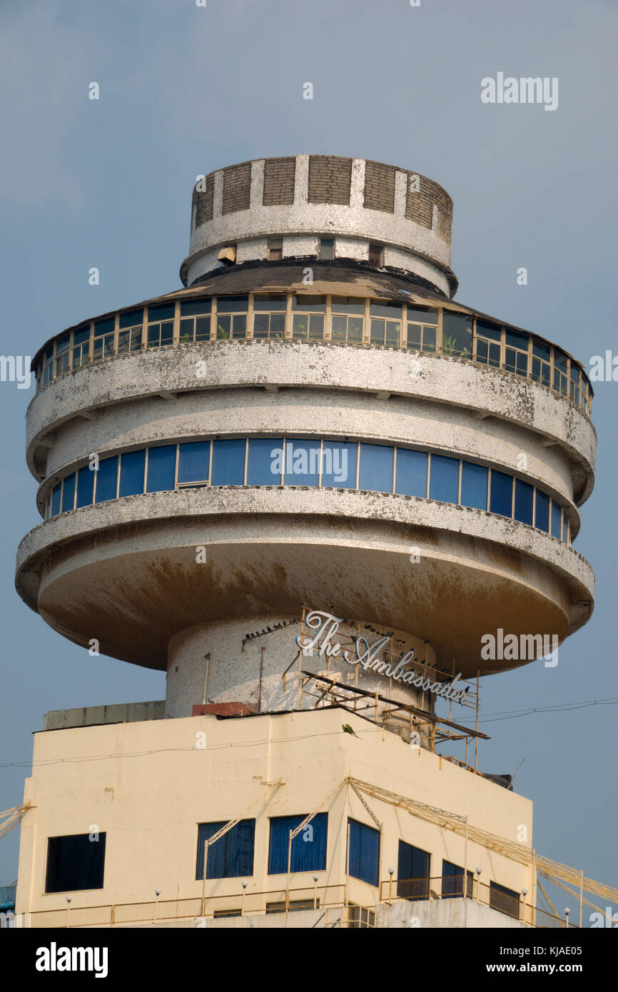 Revolving restaurant at the top of the Ambassador hotel in central Mumbai - Stock Image
