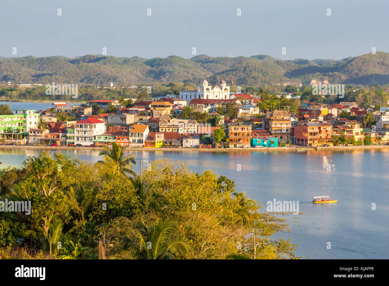 View from a lookout | Flores | Guatemala - Stock Image