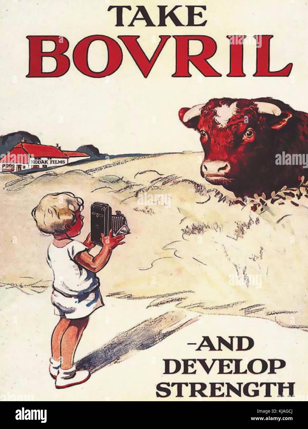 TAKE BOVRIL ADVERT published  1932 - Stock Image