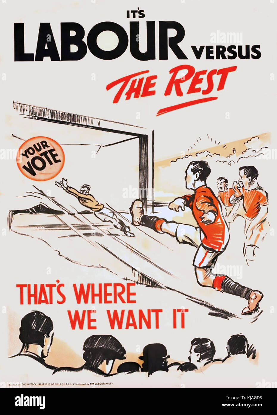 LABOUR VERSUS THE REST  1924 Labour Party poster - Stock Image