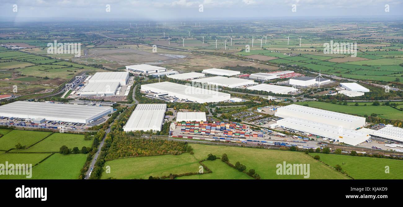 Daventry Rail Freight terminal, Kilsby, Warwickshire, UK - Stock Image
