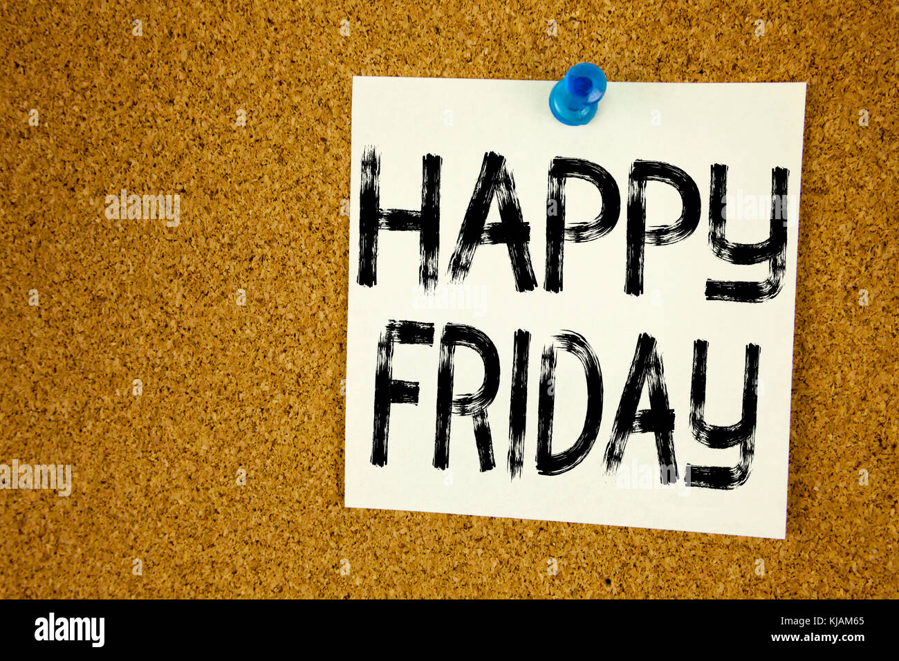 Conceptual hand writing text caption inspiration showing Happy Friday . Business concept for Greeting Announcement - Stock Image