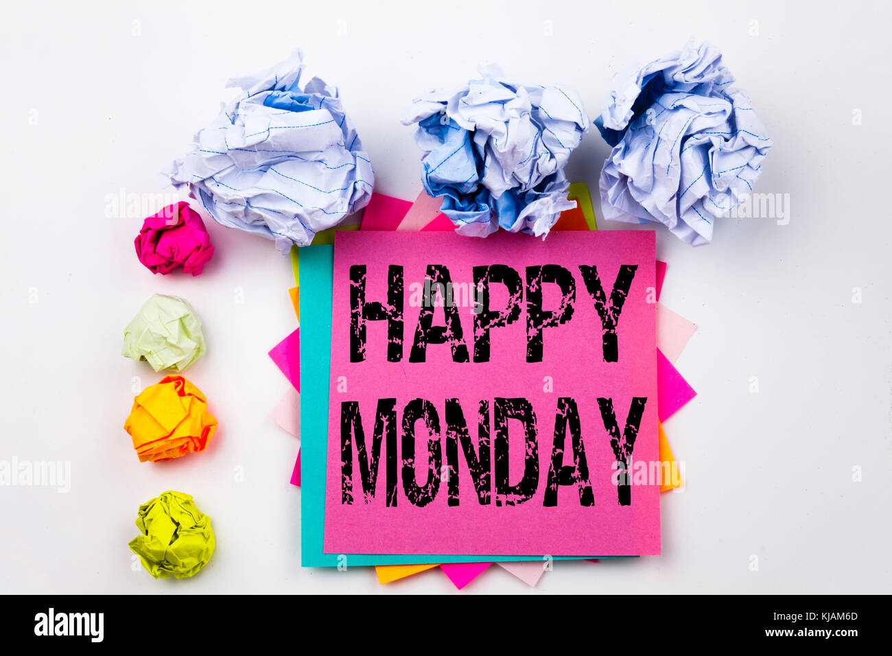 Good morning monday in vintage stock photos good morning monday in happy monday text written on tablet computer in the office with marker pen m4hsunfo