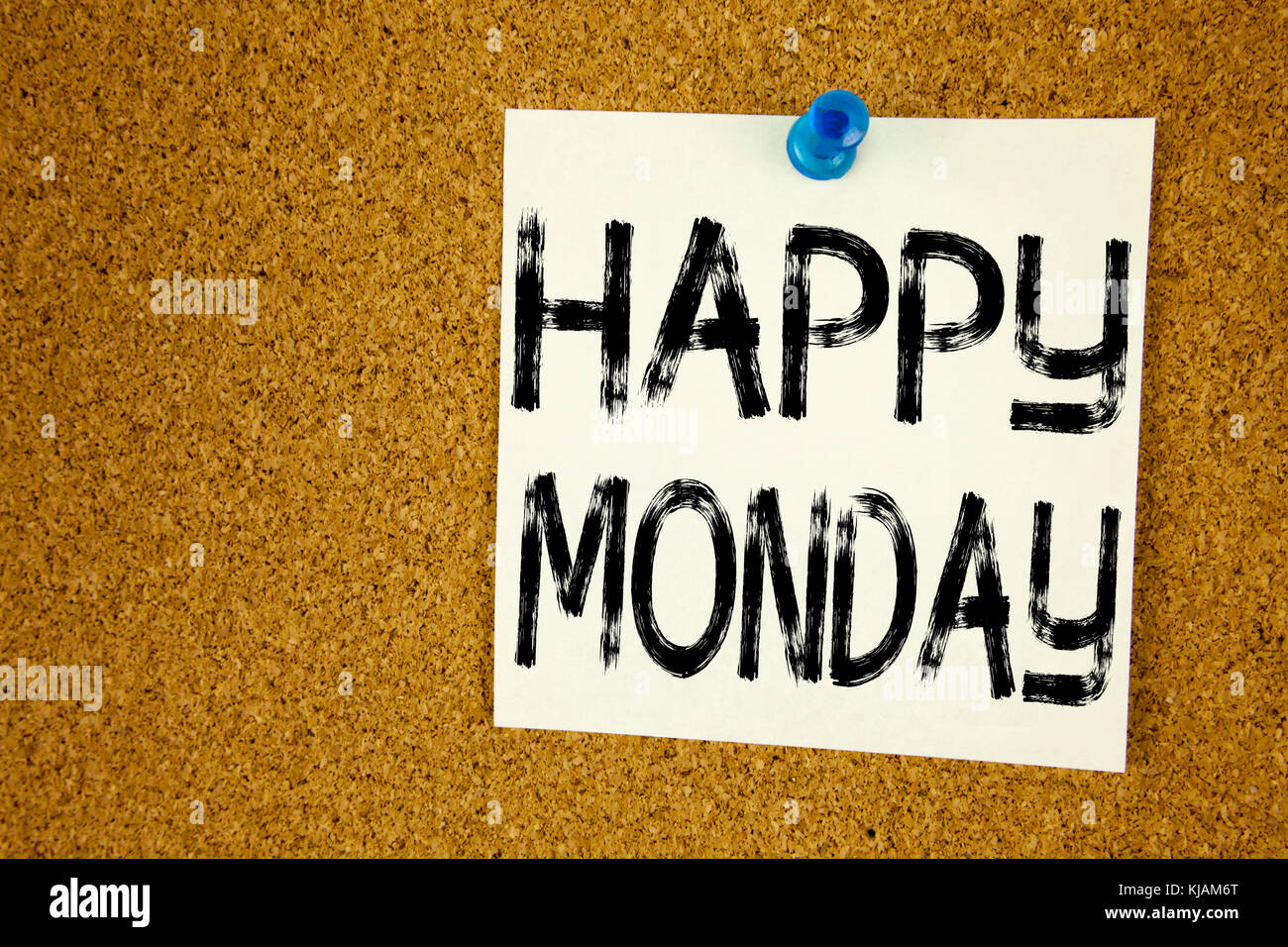 Conceptual hand writing text caption inspiration showing Happy Monday . Business concept for Greeting Announcement - Stock Image