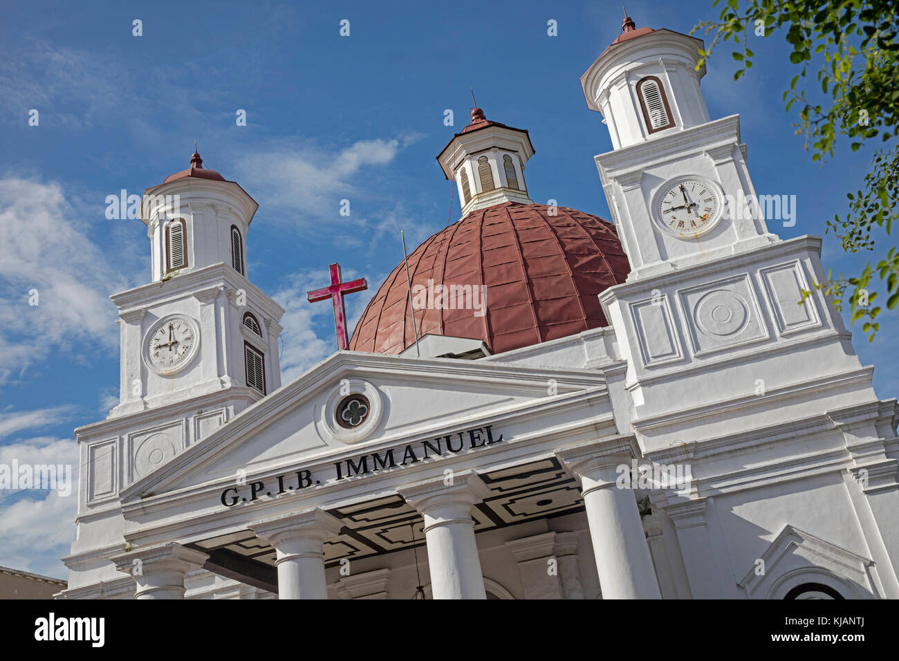 Protestant church in Western Indonesia Immanuel Semarang / Blenduk Church / Gereja Blenduk in Semarang, Central - Stock Image