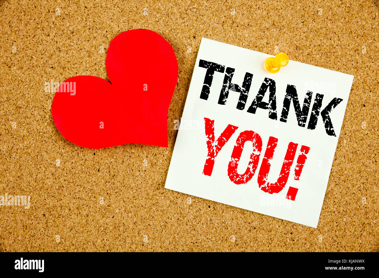 Conceptual hand writing text caption inspiration showing Thank You concept for Giving Gratitude Appreciate Message - Stock Image