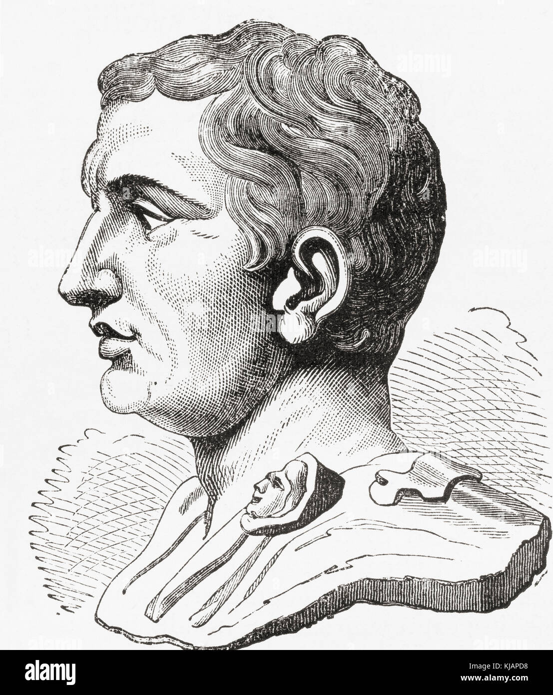 Gnaeus Pompeius Magnus,  106 - 48 BC, aka Pompey or Pompey the Great.  Military and political leader of the late - Stock Image