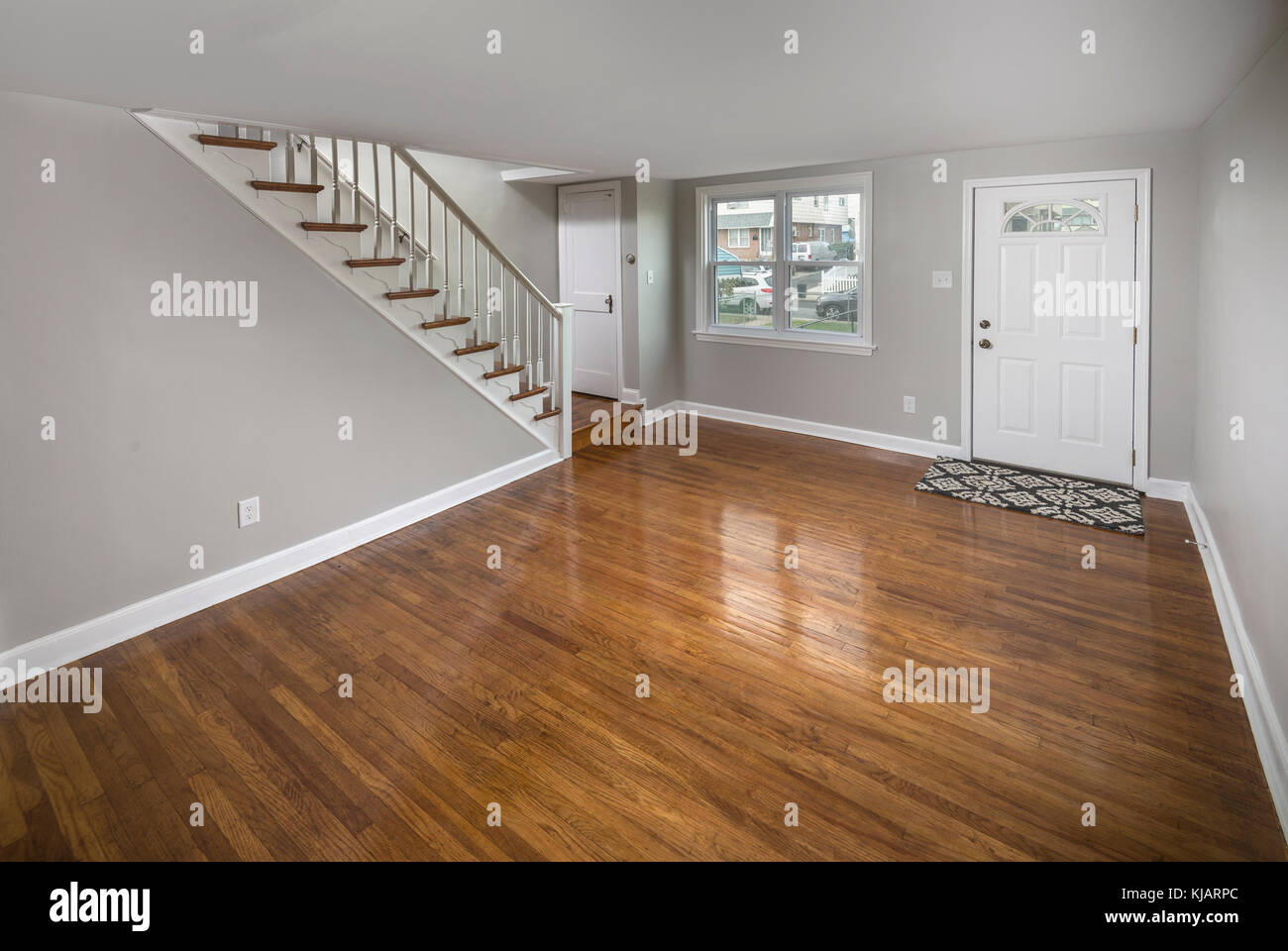 Empty Vacant Living Room In Residential Home - Stock Image