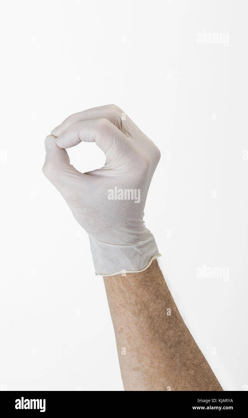 Hand Making Zero Stock Photo