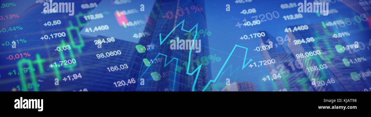 Economy background. Finance horizontal banner for business, economy, investment, financial themes. Stock market Stock Photo