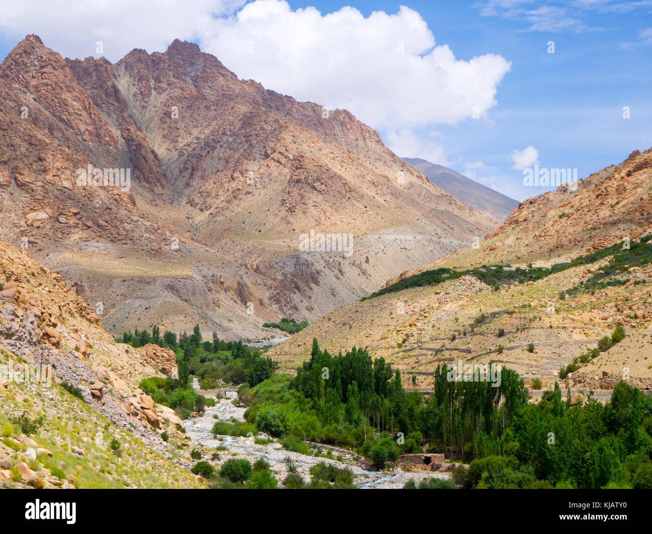 Sham Valley trek landscape - Ladakh India - Stock Image