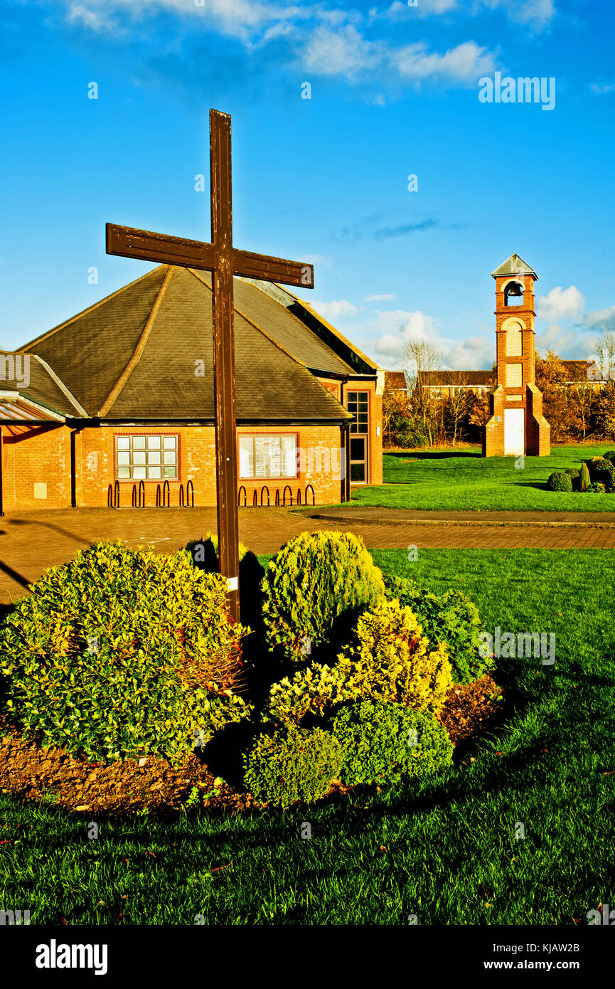 St Francis of Assisi church, Ingleby Barwick, Thornaby on Tees, Cleveland - Stock Image