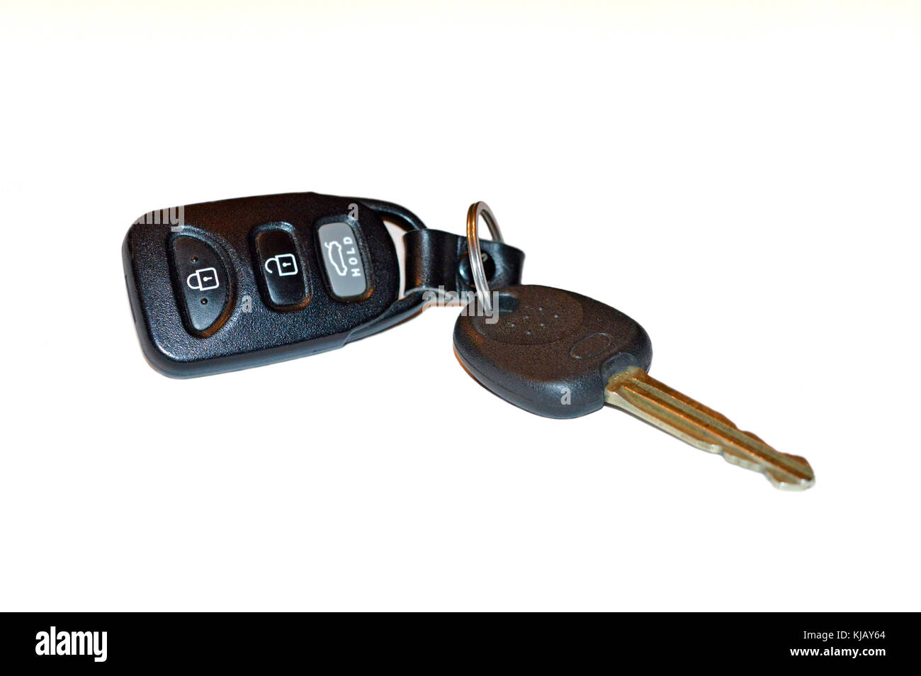 Start your engines, key and key FOB for keyless car entry - Stock Image