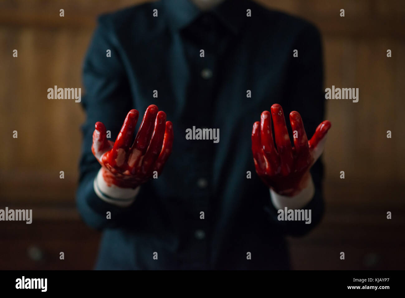 Bloody Hands - Stock Image