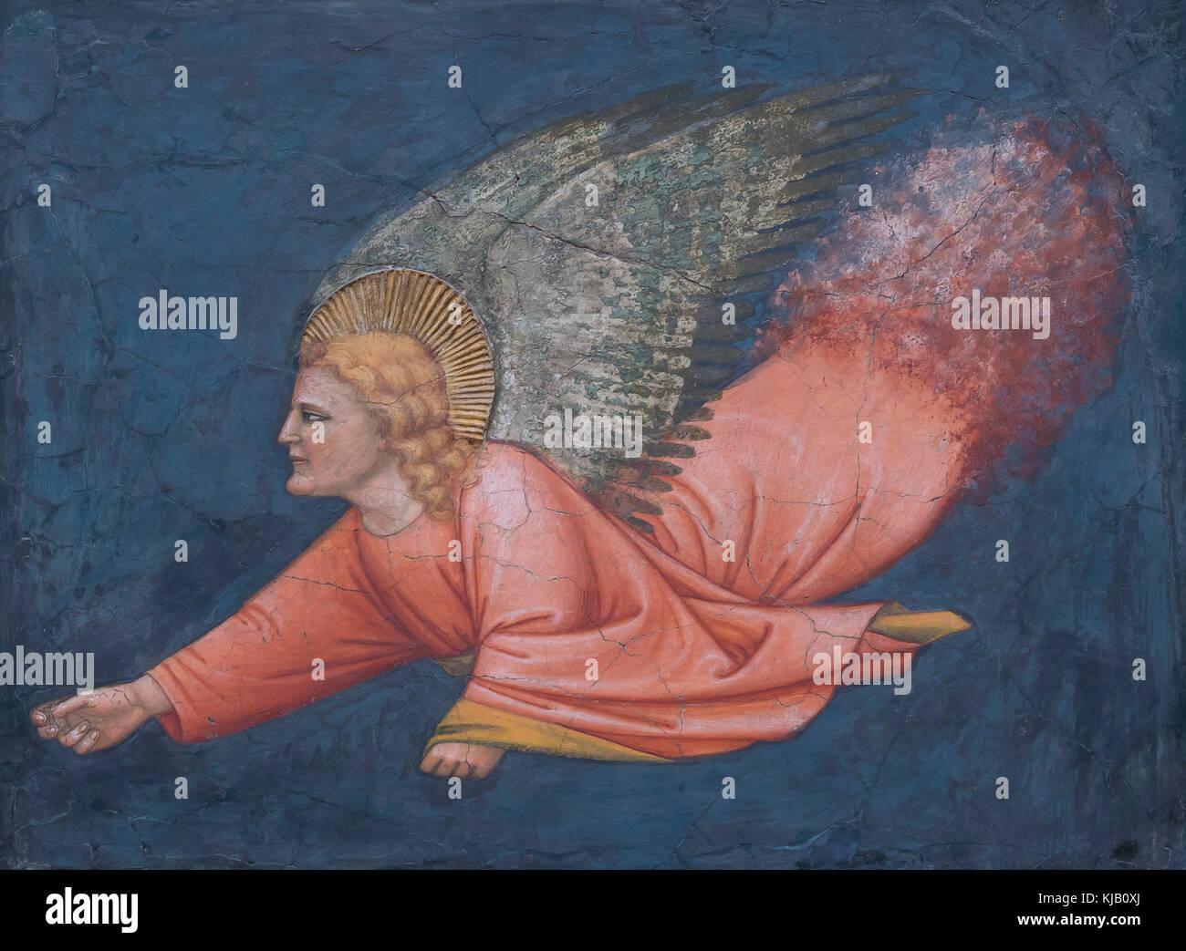 Angel, 14th century, italian, fresco, Metropolitan Museum of Art, Manhattan, New York City, USA, North America - Stock Image