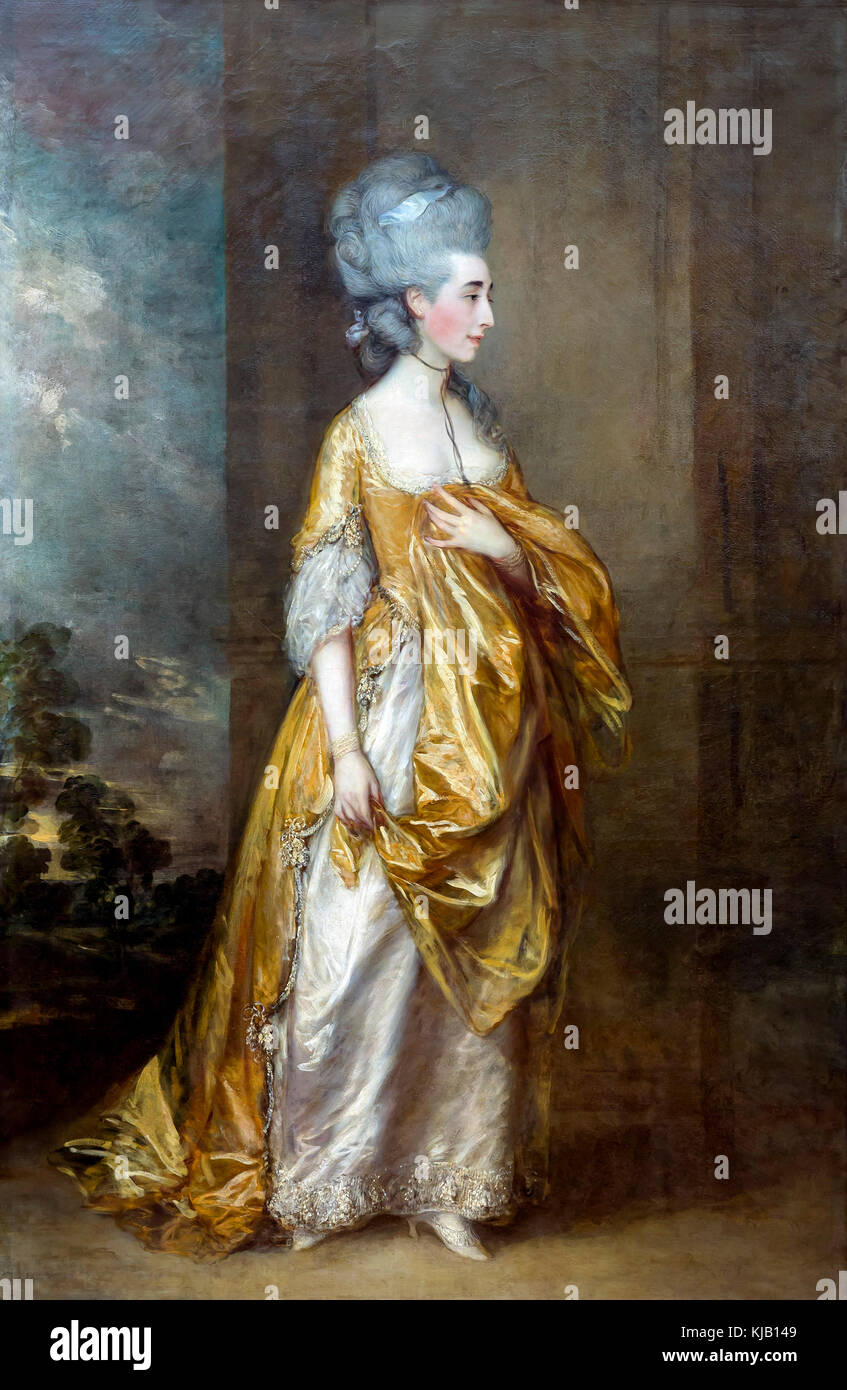 Mrs Grace Dalrymple Elliott, Thomas Gainsborough, 1778, Metropolitan Museum of Art, Manhattan, New York City, USA, - Stock Image