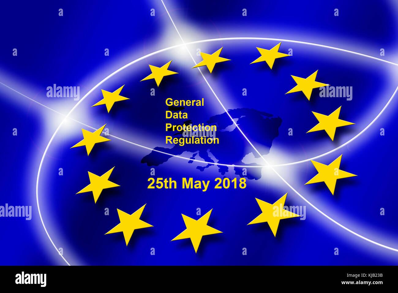 General Data Protection Regulation - Stock Image