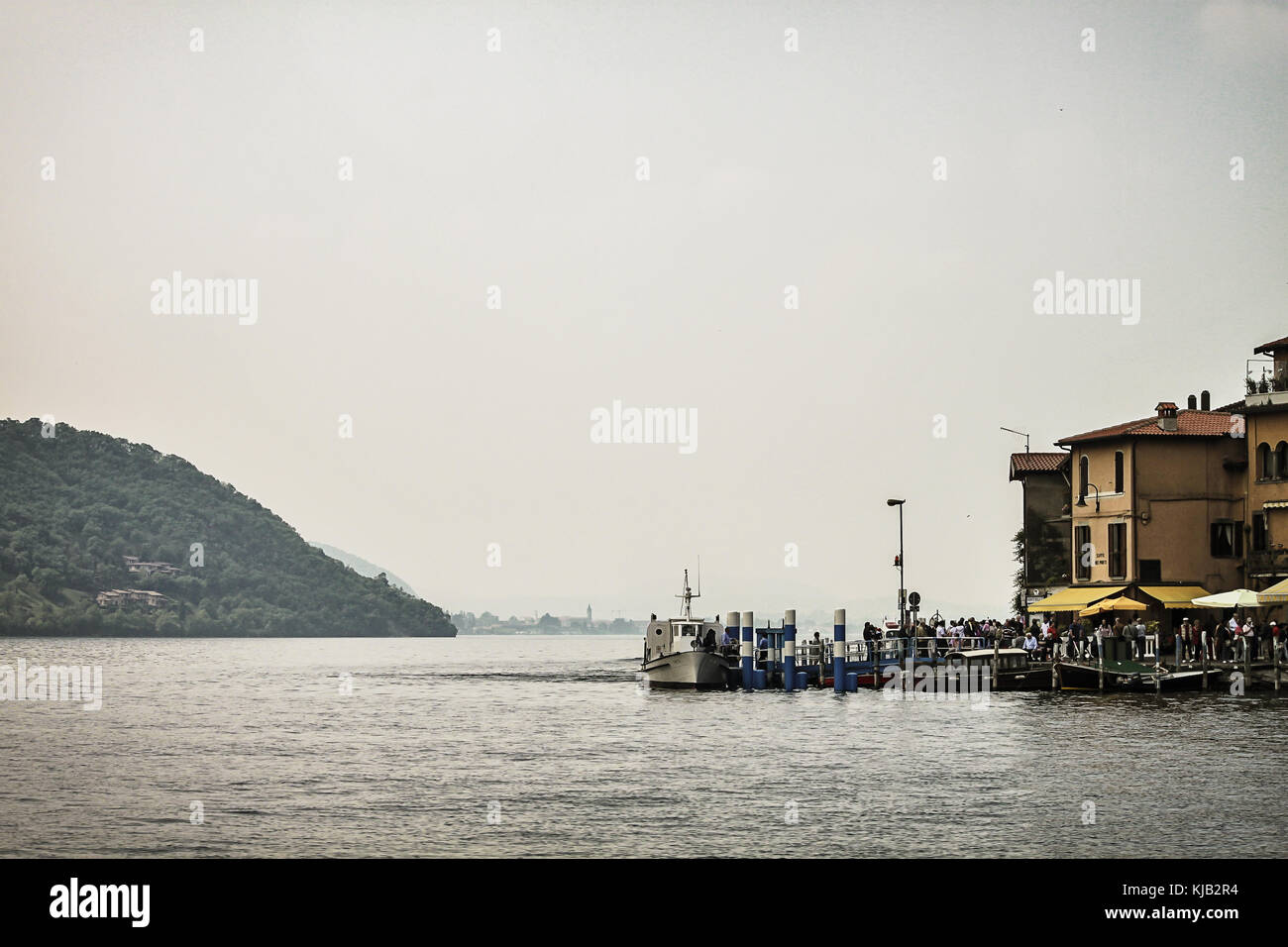 The Iseo lake in Italy - Stock Image