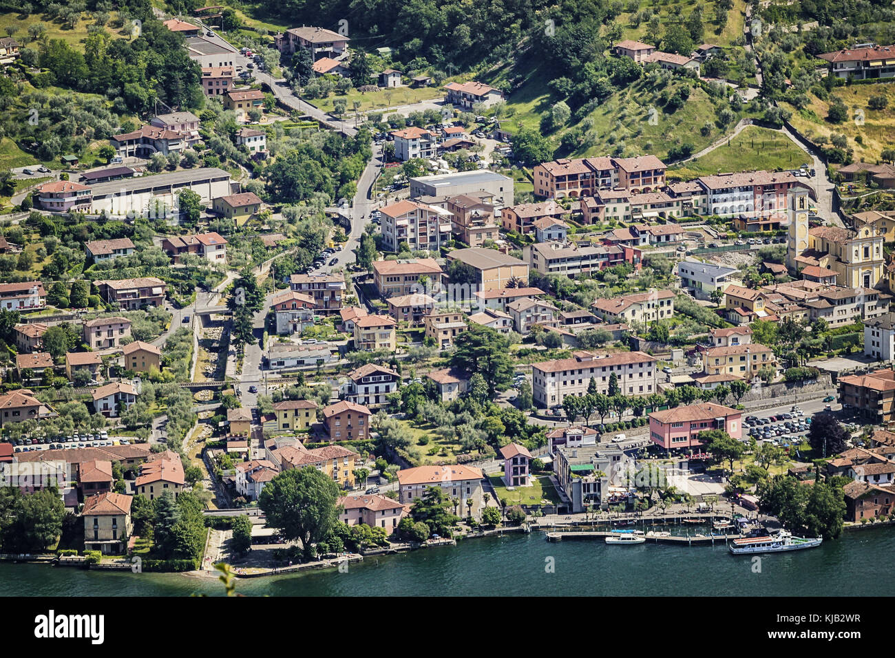 The Iseo lake in Italy Stock Photo