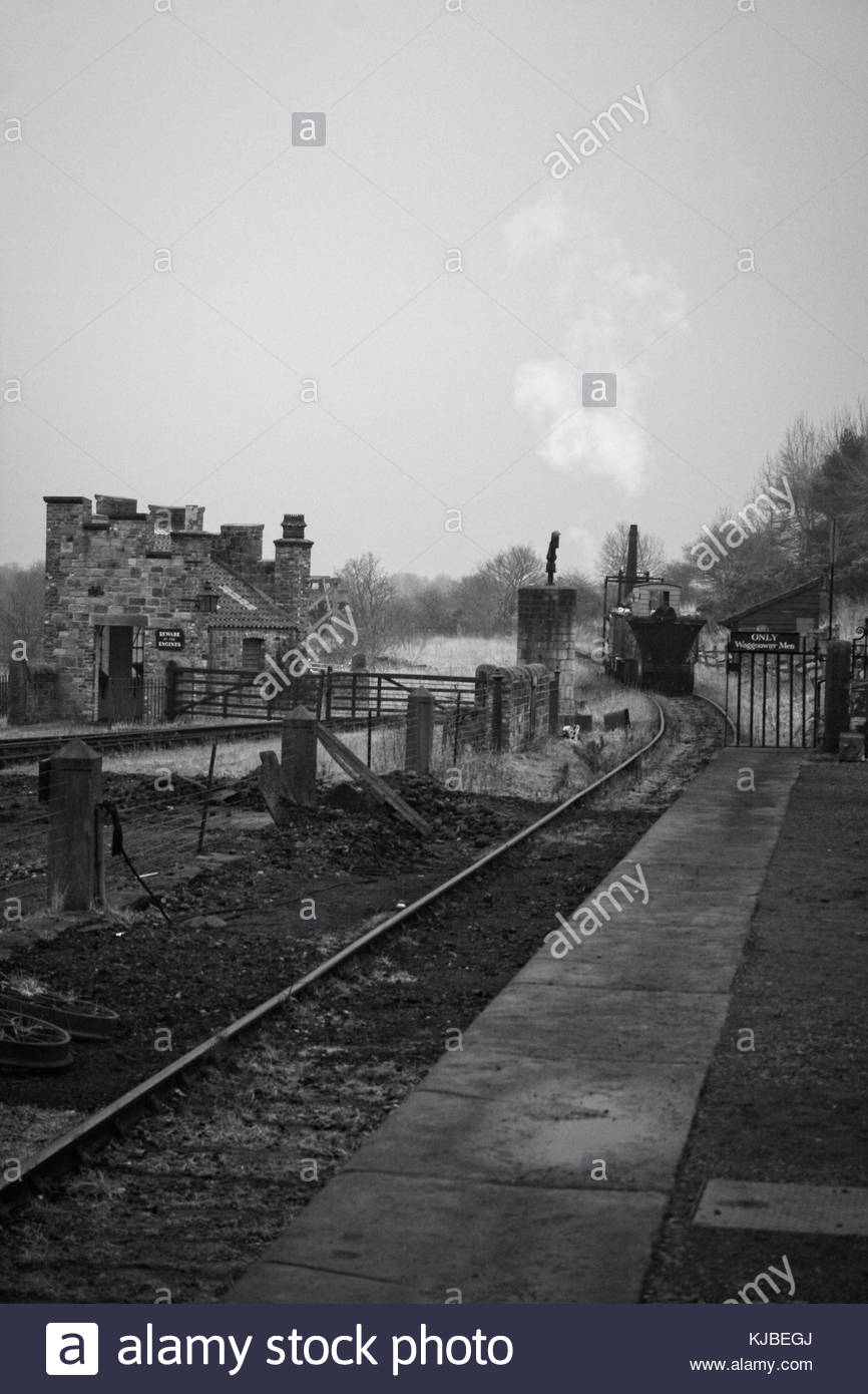 Steam Train - Locomotion No. 1 - Pockerley Waggonway - Beamish Museum - © Doc Braham; All Rights Reserved - Stock Image