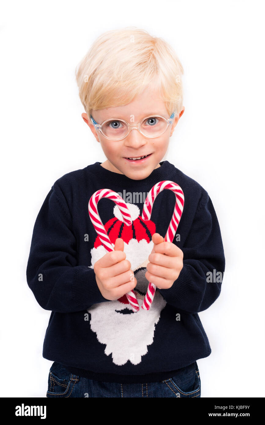 Adorable Four Year Boy With Big Blue Eyes Stock Image: Santa Claus With Stick Stock Photos & Santa Claus With