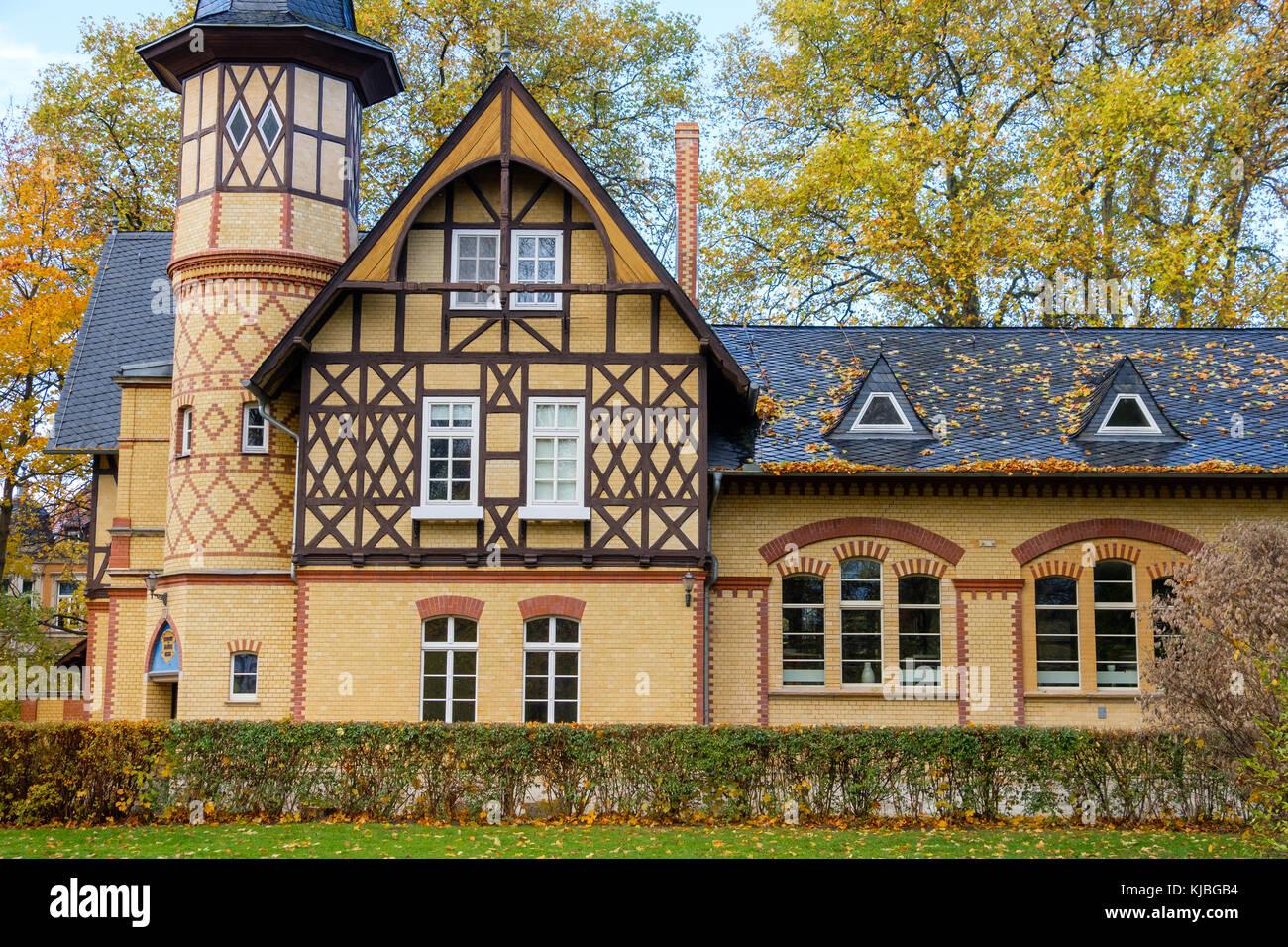Quedlinburg im Herbst Stadtansichten altes Wasserwerk - Stock Image