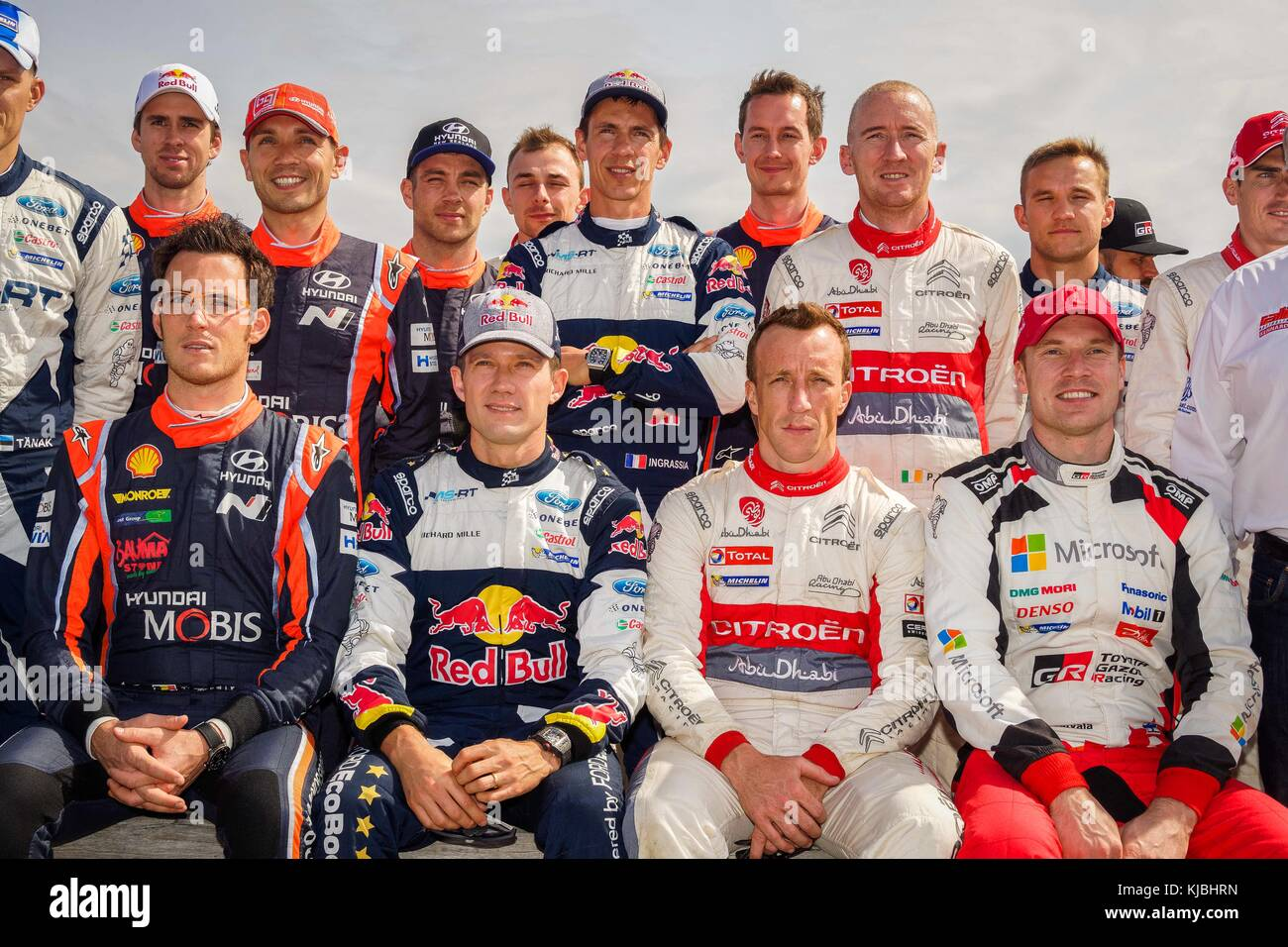 FIA WRC Rally drivers pictured at the photo opportunity prior to the ...