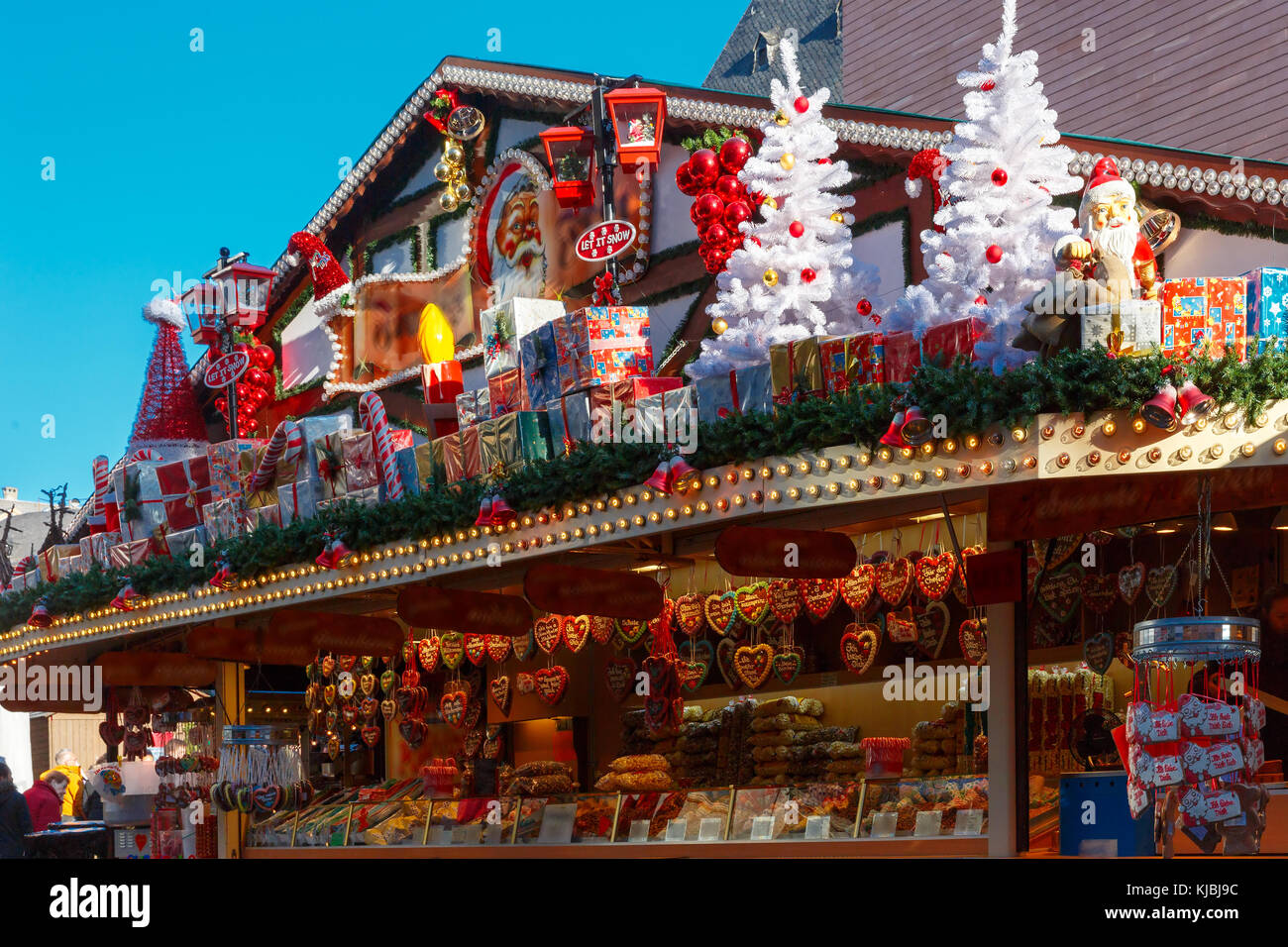 Christmas Market in Strasbourg, Alsace, France - Stock Image