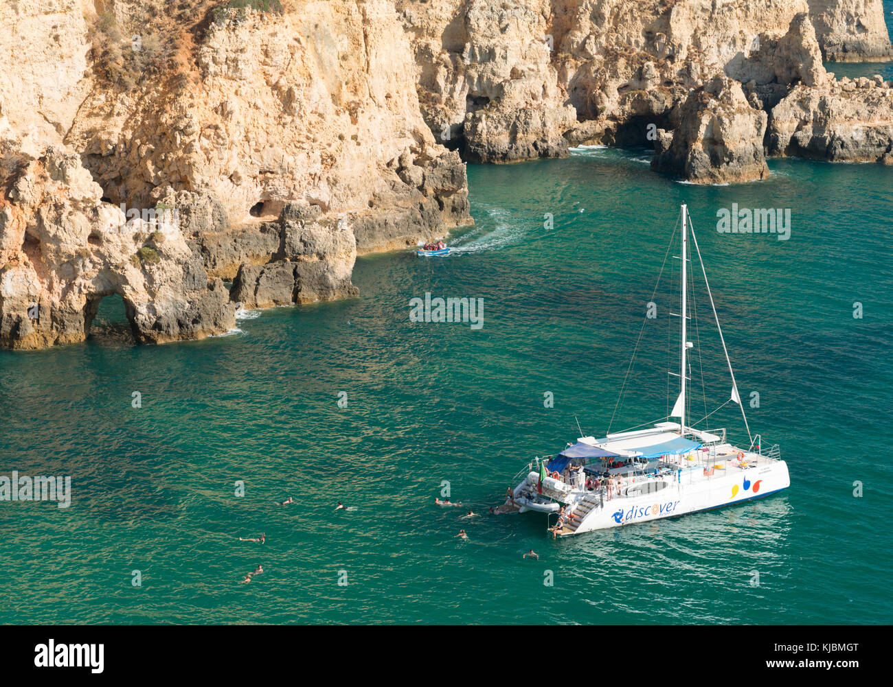 Catamaran in Algarve, Portugal, Europe - Stock Image
