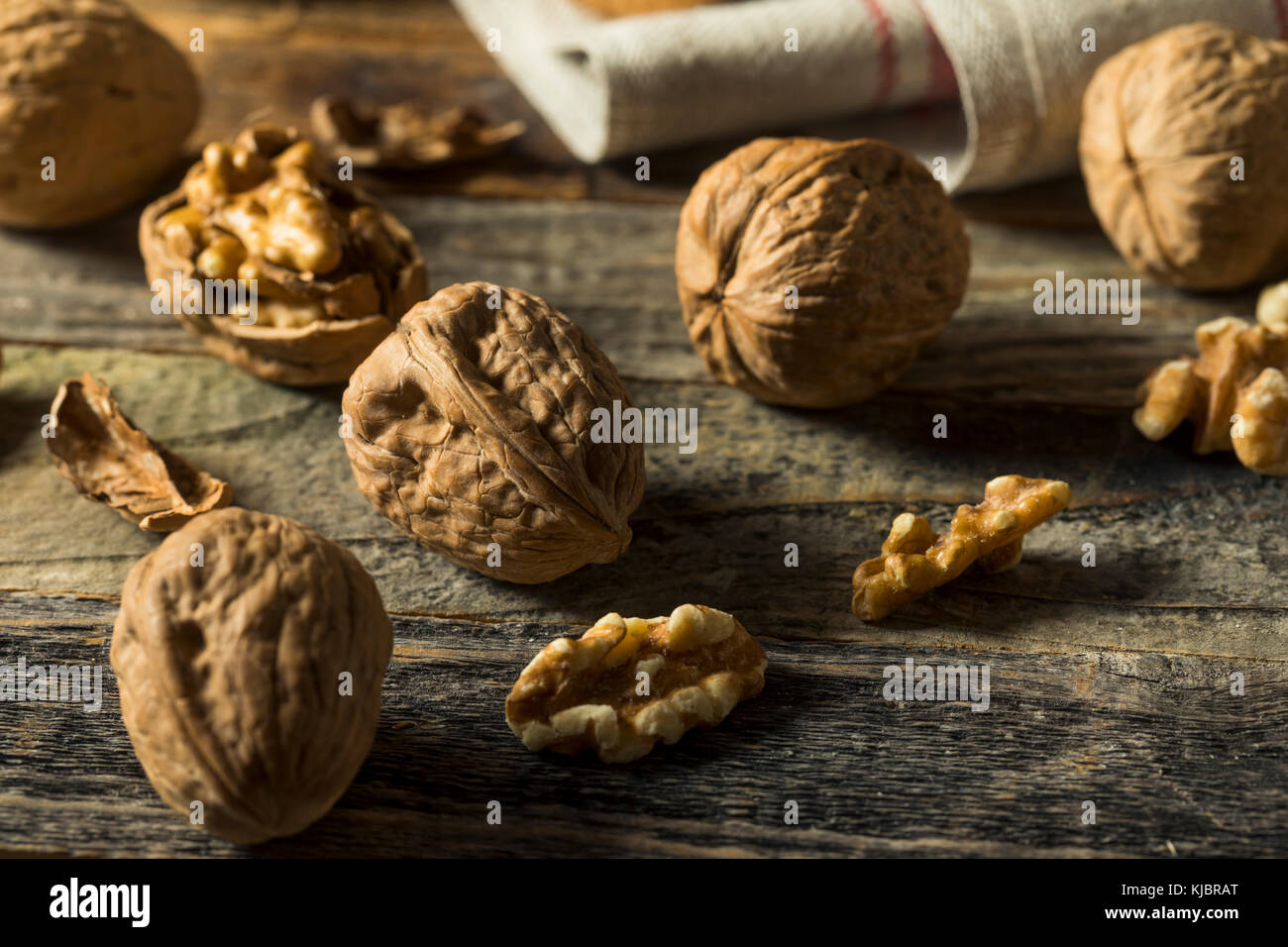 Raw Brown Organic Walnuts Ready to Eat Stock Photo