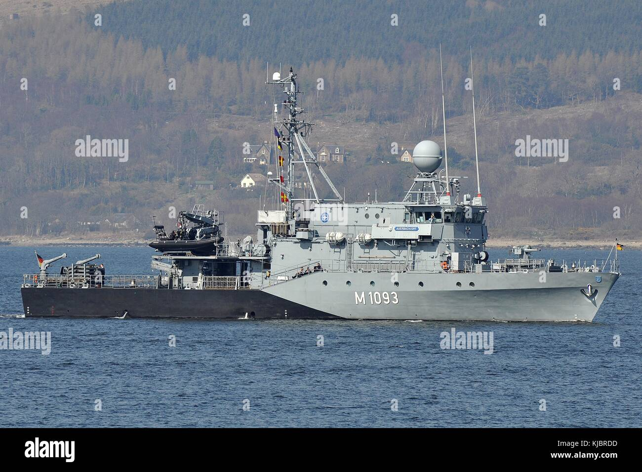 M1093 FGS AUERBACH-OPF, ENSDORF CLASS MINEHUNTER OF THE GERMAN NAVY. - Stock Image